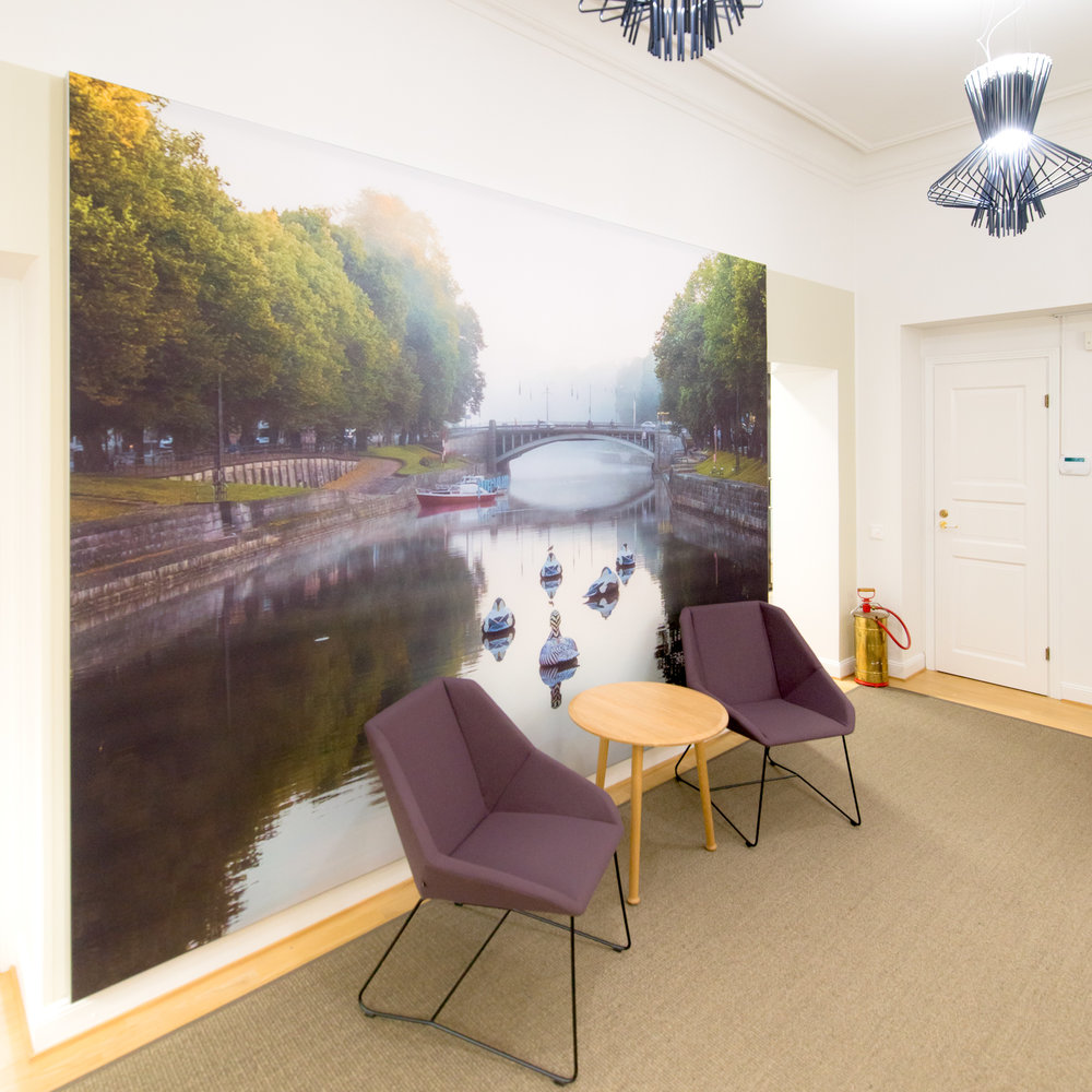 SEPTEMBER MORNING wall mural 3.5 × 2.2 meters | Turku Chamber of Commerce, Turku, Finland