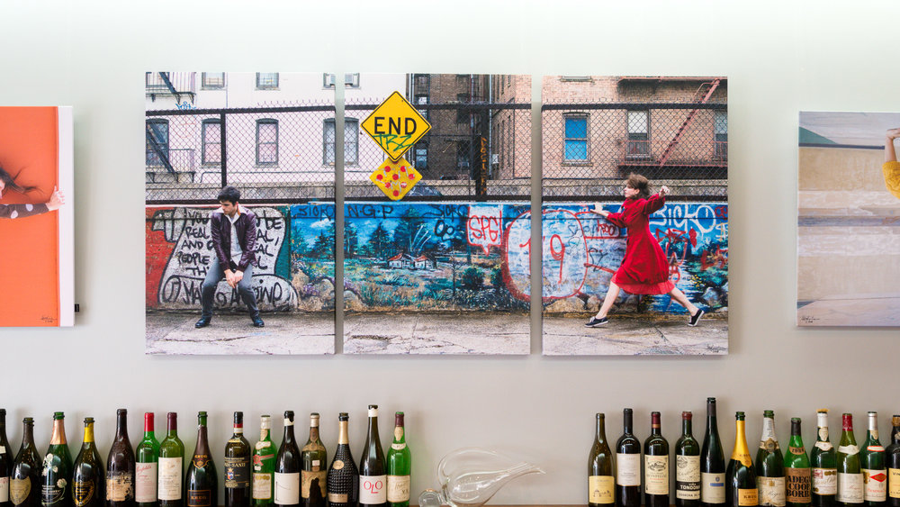 THE END / New York  TRIPTYCH 3 X 60x90 cm / HYSSNY SHAPE available on location or online - signature edition 1300€ (+ alv. 24%)   info@kurkidecoration.fi
