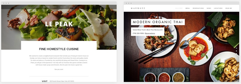 Mobile responsive Restaurant designs