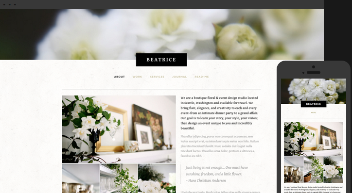 Beatrice mobile responsive website