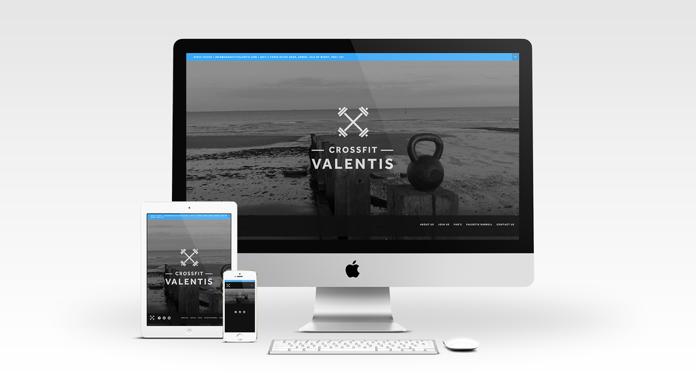 Crossfit Valentis mobile responsive website