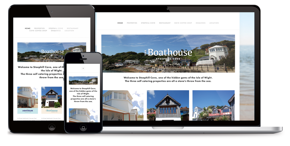 The BoatHouse mobile responsive website