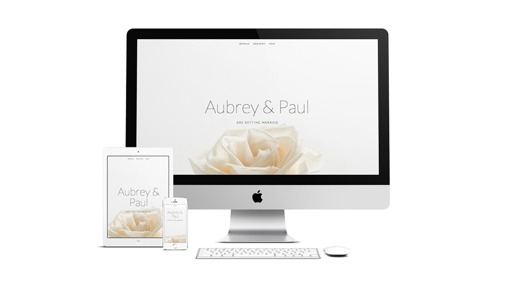 With its unique front and centre designs, this template displays all of your favourite photographs whilst showcasing the most important details of your big day where they can't be missed.