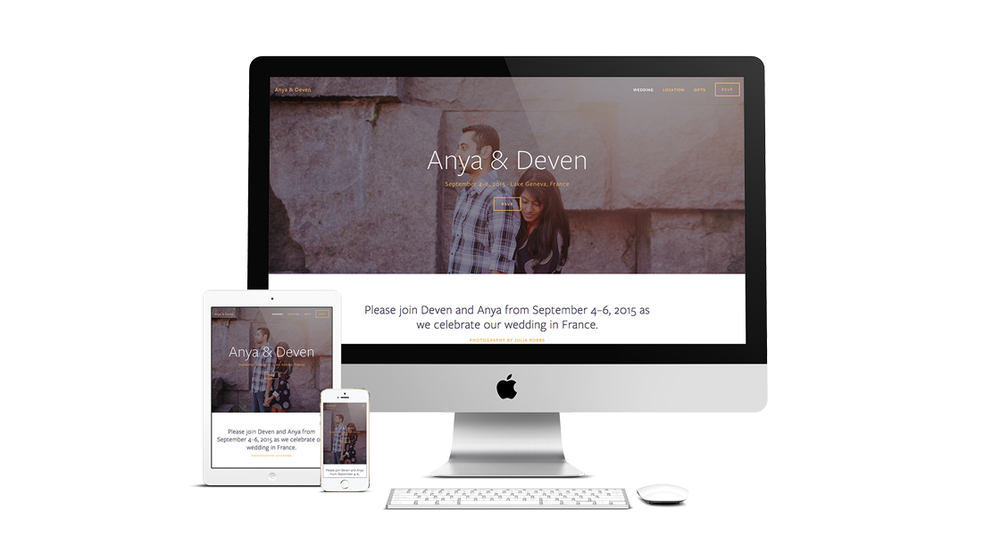 Tell the story of your time together with Anya's beautiful features and intuitive interface and create a fun and easy website to share with your friends and family.