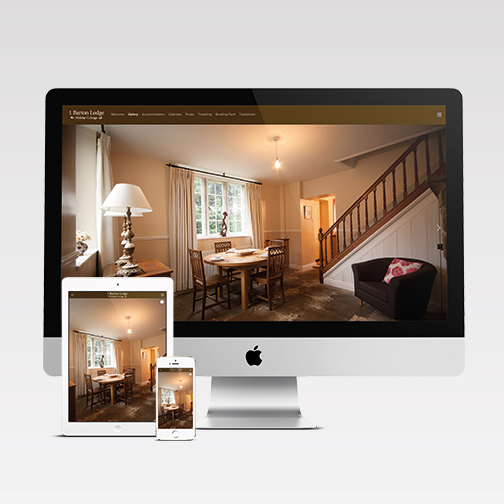Barton Manor mobile responsive website