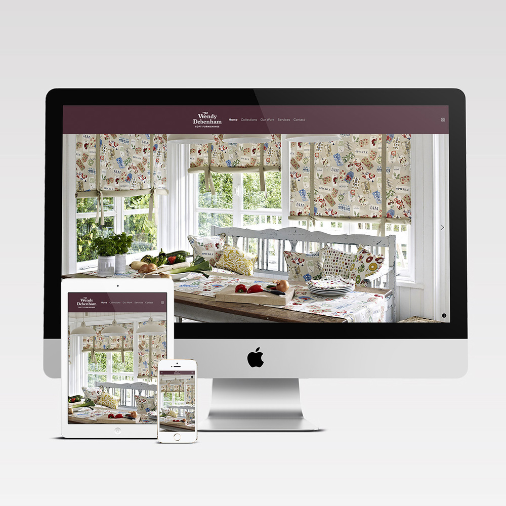Wendy Debenham Mobile responsive website
