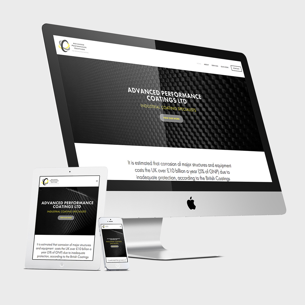 Advanced Performance Coatings' responsive website