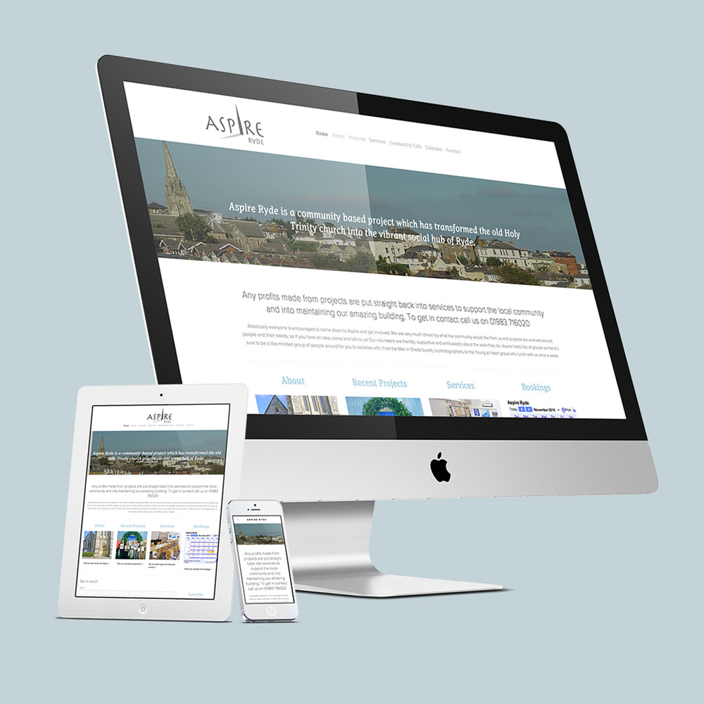 Aspire mobile responsive website