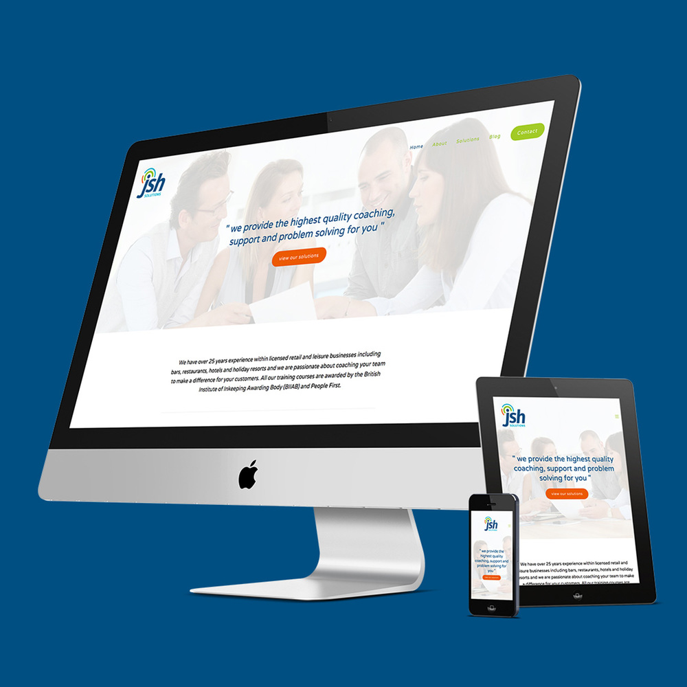 JSH Solutions responsive website