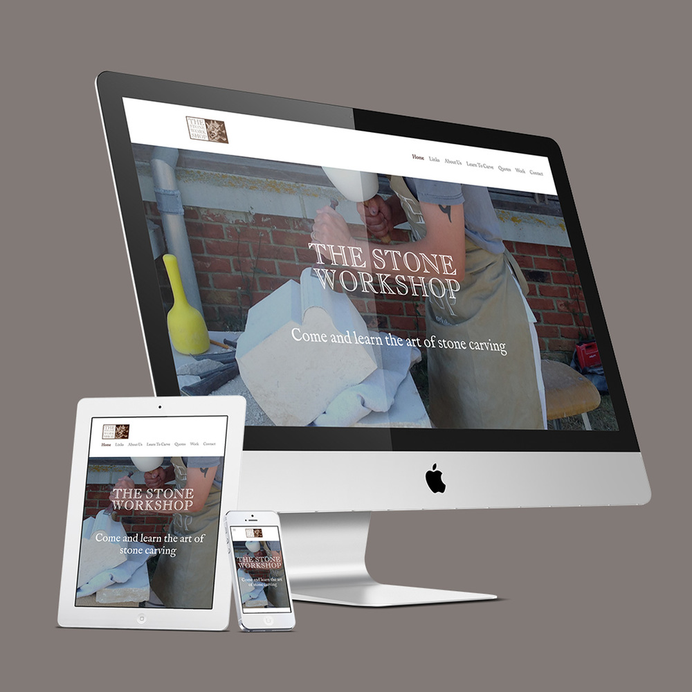 The Stone Workshop responsive website