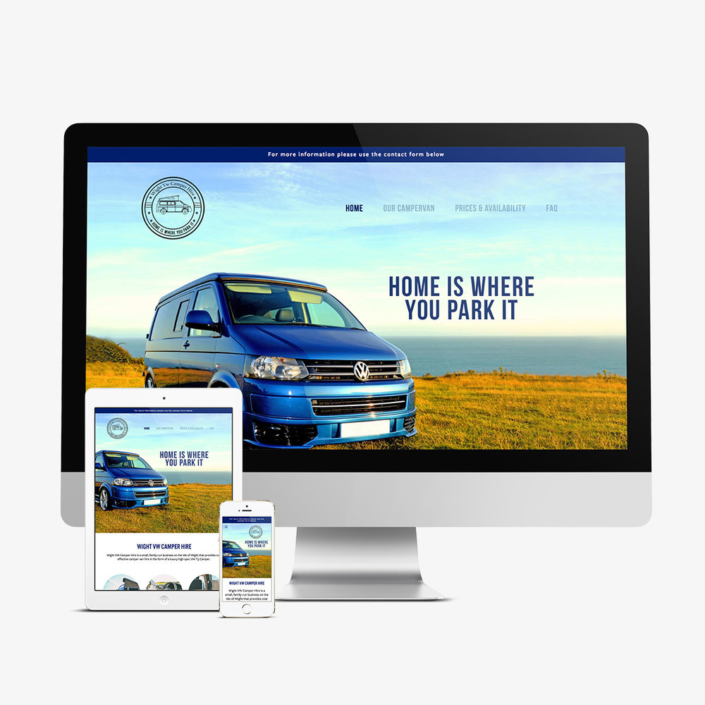 Wight VW Camper Hire new website