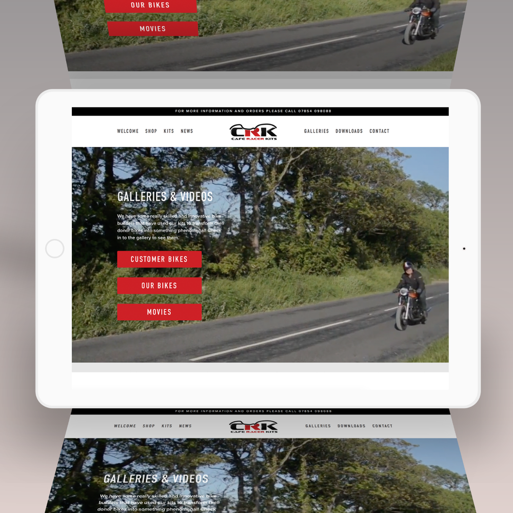 car Racer Kits tablet responsive website