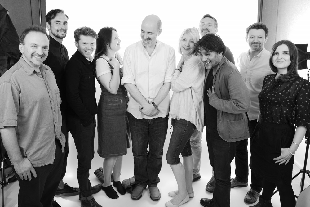 Matt Fitton, Steve John Shepherd, James Joyce, Ingrid Oliver, Nicholas Briggs, Jemma Redgrave, David Richardson, Ramon Tikaram, Ken Bentley, Tracy Wiles. Photograph: Tony Whitmore