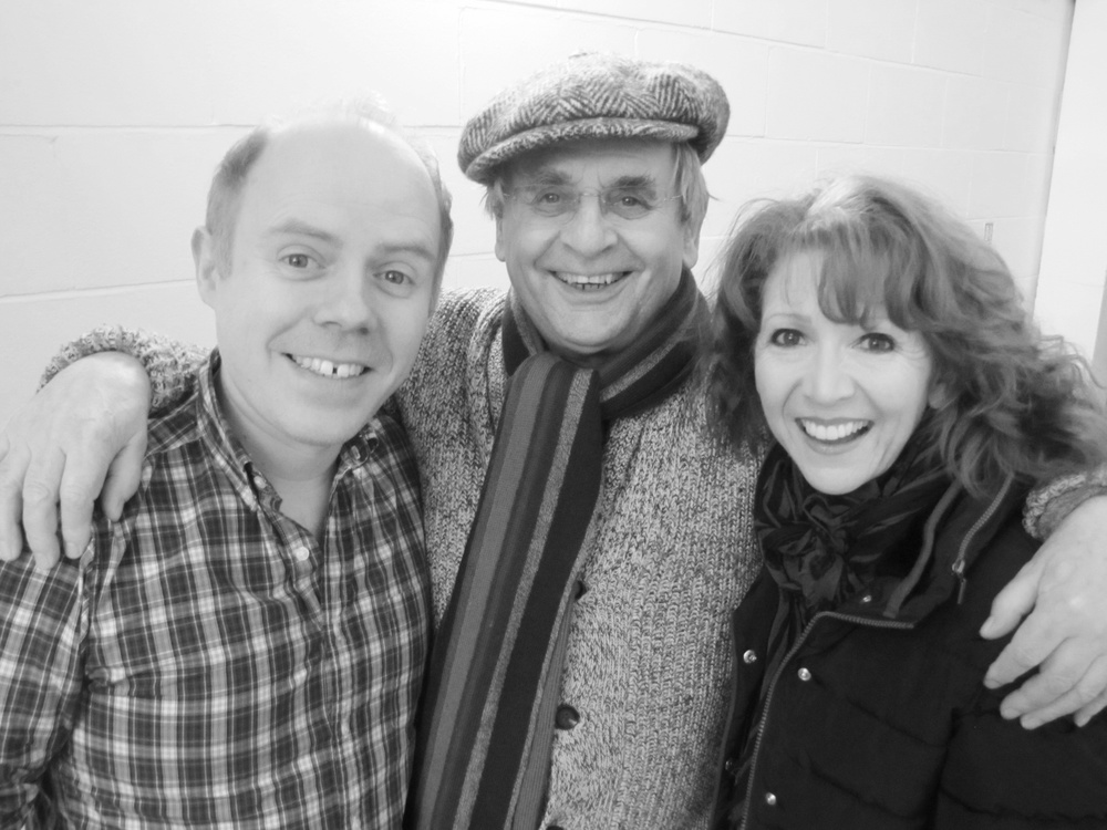 Dan Starkey, Sylvester McCoy, Bonnie Langford.