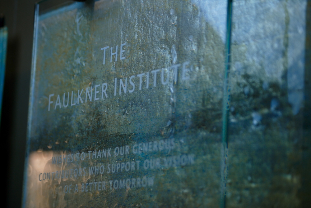 'Faulkner Institute' - Donor Recognition Wall - Fused and hand-painted glass (detail).