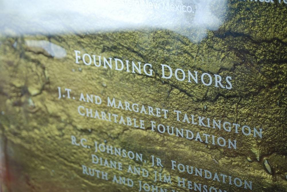 University Medical Center - Donor Recognition Panel - Fused and hand-painted glass (detail).