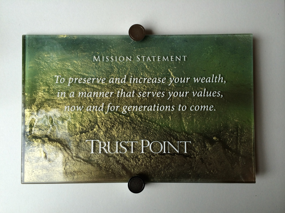 TrustPoint Fused and Hand-Painted Glass Plaque