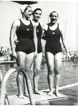 Liselotte Kobi mit Doris Gontersweiler und Marianne Ehrismann: «Ein Wunder, dass wir keine wollenen Anzügehatten!»
