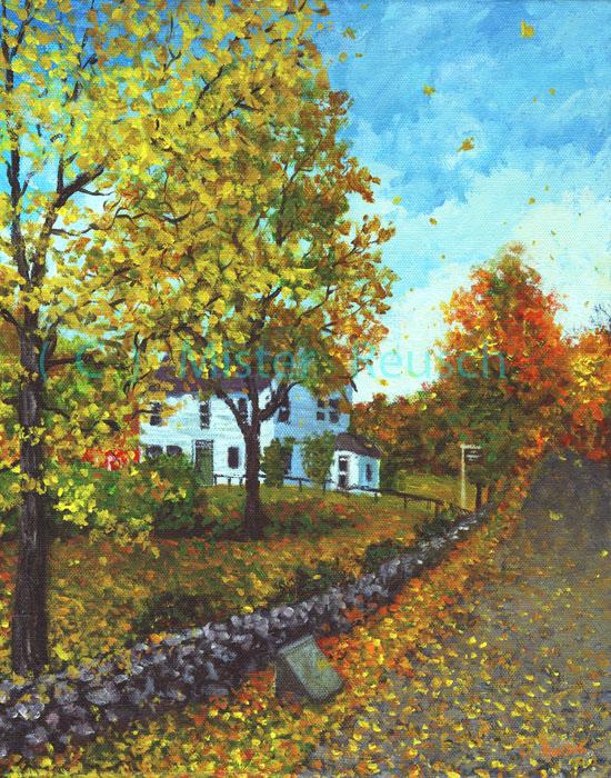 """Whittier Birthplace in Autumn"""