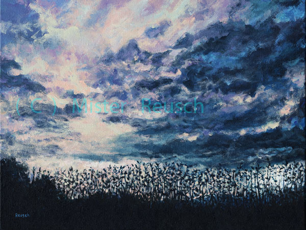 """Dusk Over Summer Fields"""