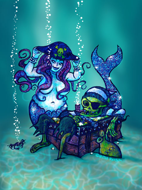 """Mermaid & Pirate"""
