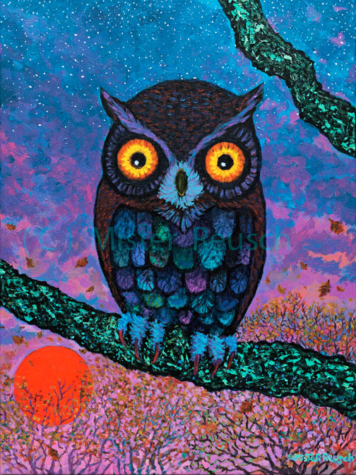 """Harvest Moon Owl"""