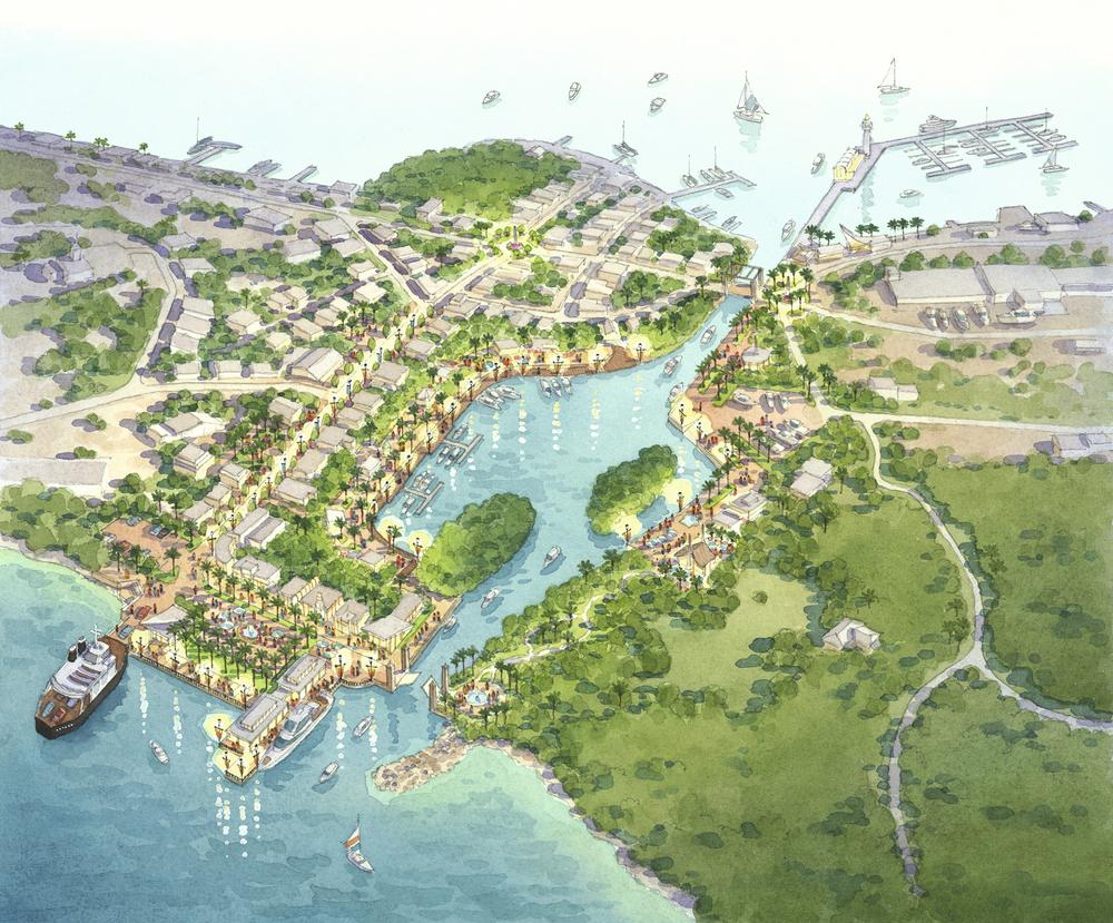 Dewey, Culebra Aerial Rendering