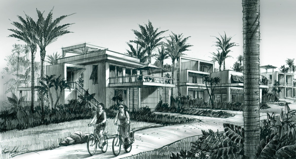 Beach Villas Rendering