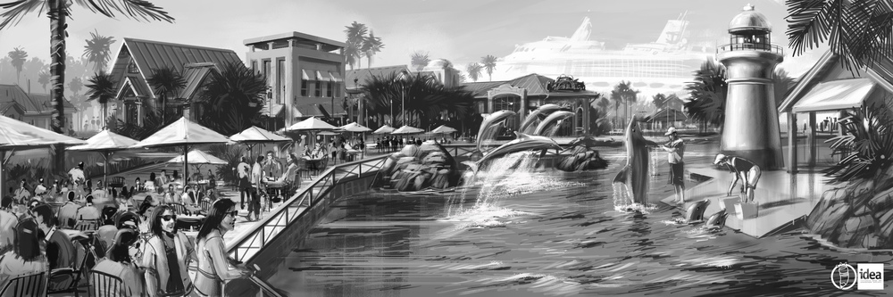 Dolphin Encounter Rendering