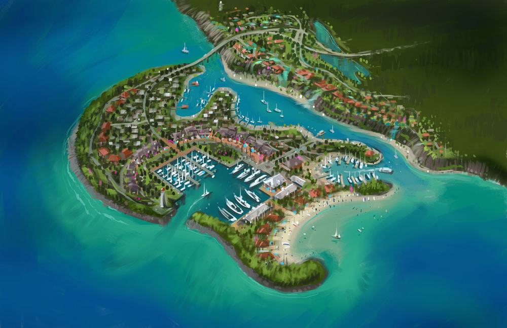 Northern Island Aerial Rendering