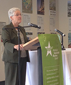 EPA Administrator Gina McCarthy speaking on the importance of preserving public health
