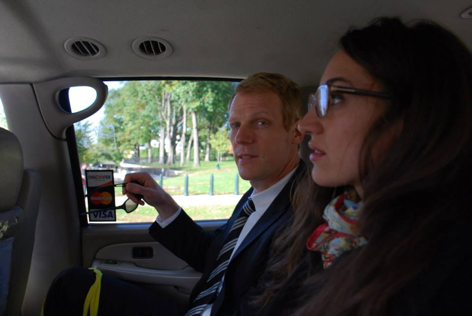 Patrick Duffy and Juliette Donatelli en route to the Business Summit for a Sustainable Economy