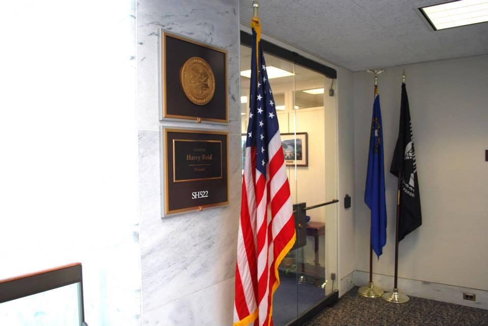 Outside of Senate Majority Leader, Harry Reid's Office