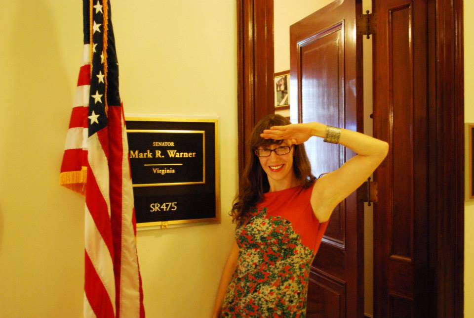 Bob drops into Mark Warner's office, the representative of her home state!