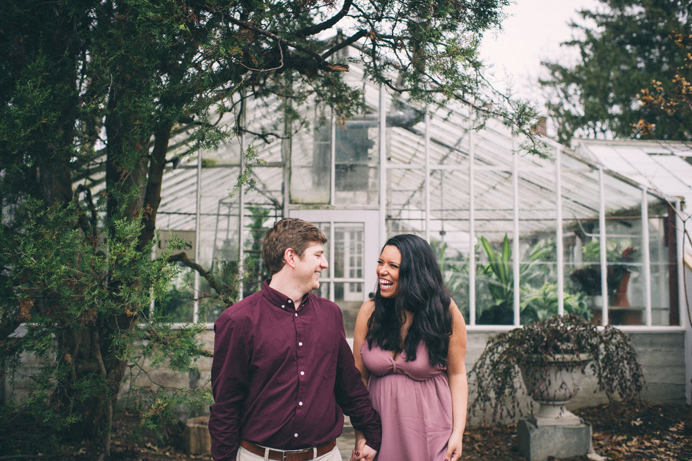 Micaha + Austin - Lexington Greenhouse Engagement // 2017