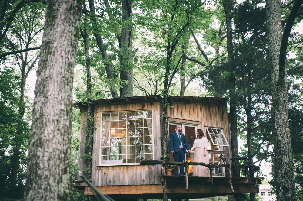 Jessica + Brian - The Fox House Treehouse Elopement2017