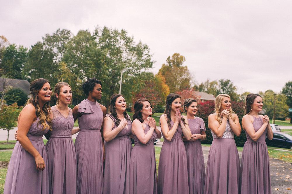 Micaha & Austin // Cozy Autumn Wedding at Springhouse Gardens // Lexington, Kentucky // Wedding Photography // Bridal Party First Look