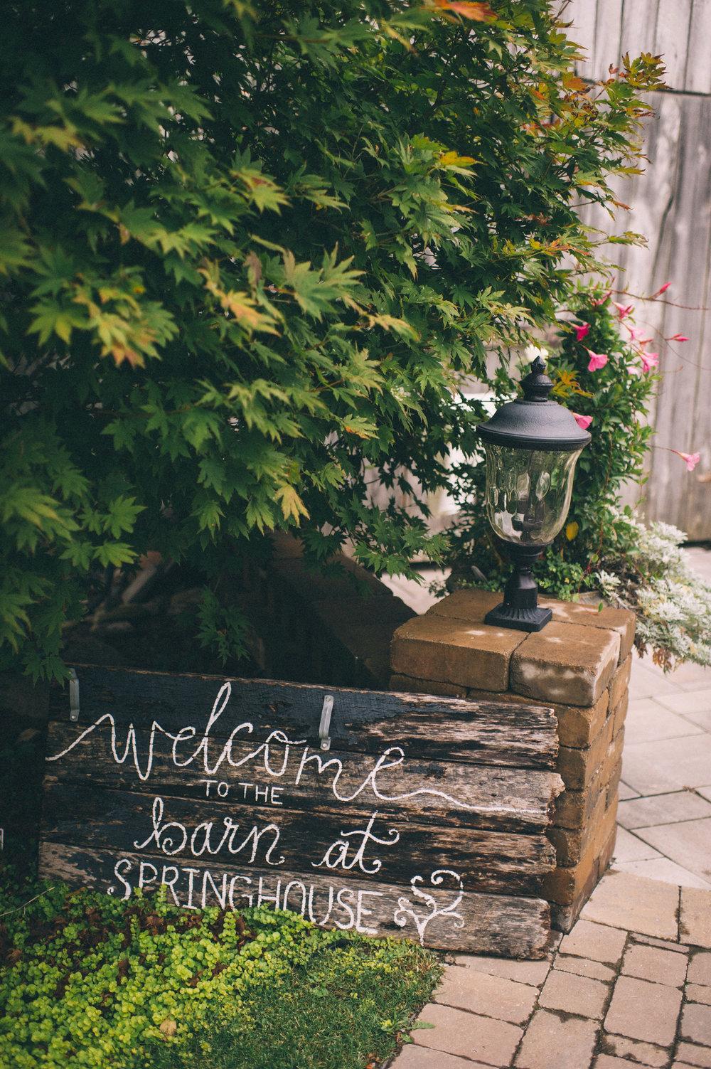 Micaha & Austin // Cozy Autumn Wedding at Springhouse Gardens // Lexington, Kentucky // Wedding Photography // Sign
