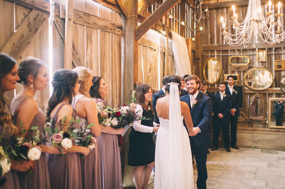 Micaha & Austin // Cozy Autumn Wedding at Springhouse Gardens // Lexington, Kentucky // Wedding Photography // Ceremony