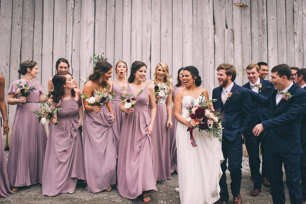 Micaha & Austin // Cozy Autumn Wedding at Springhouse Gardens // Lexington, Kentucky // Wedding Photography // Wedding Party