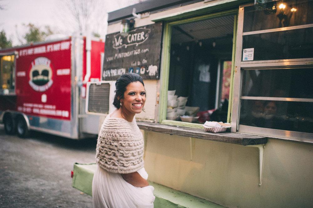 Micaha & Austin // Cozy Autumn Wedding at Springhouse Gardens // Lexington, Kentucky // Wedding Photography // Reception // Food Trucks