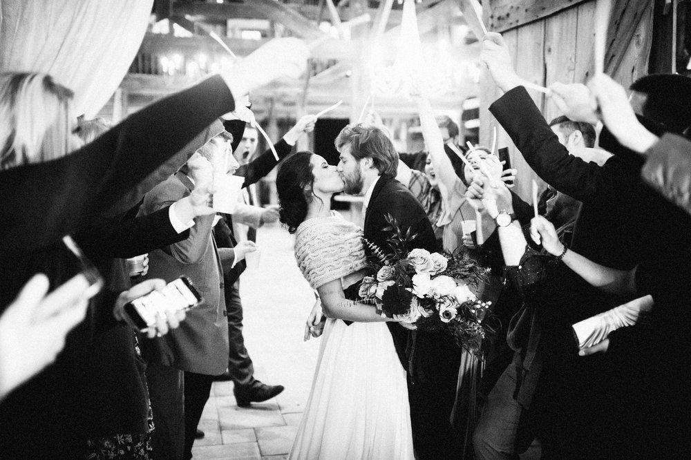 Micaha & Austin // Cozy Autumn Wedding at Springhouse Gardens // Lexington, Kentucky // Wedding Photography // Reception // Exit