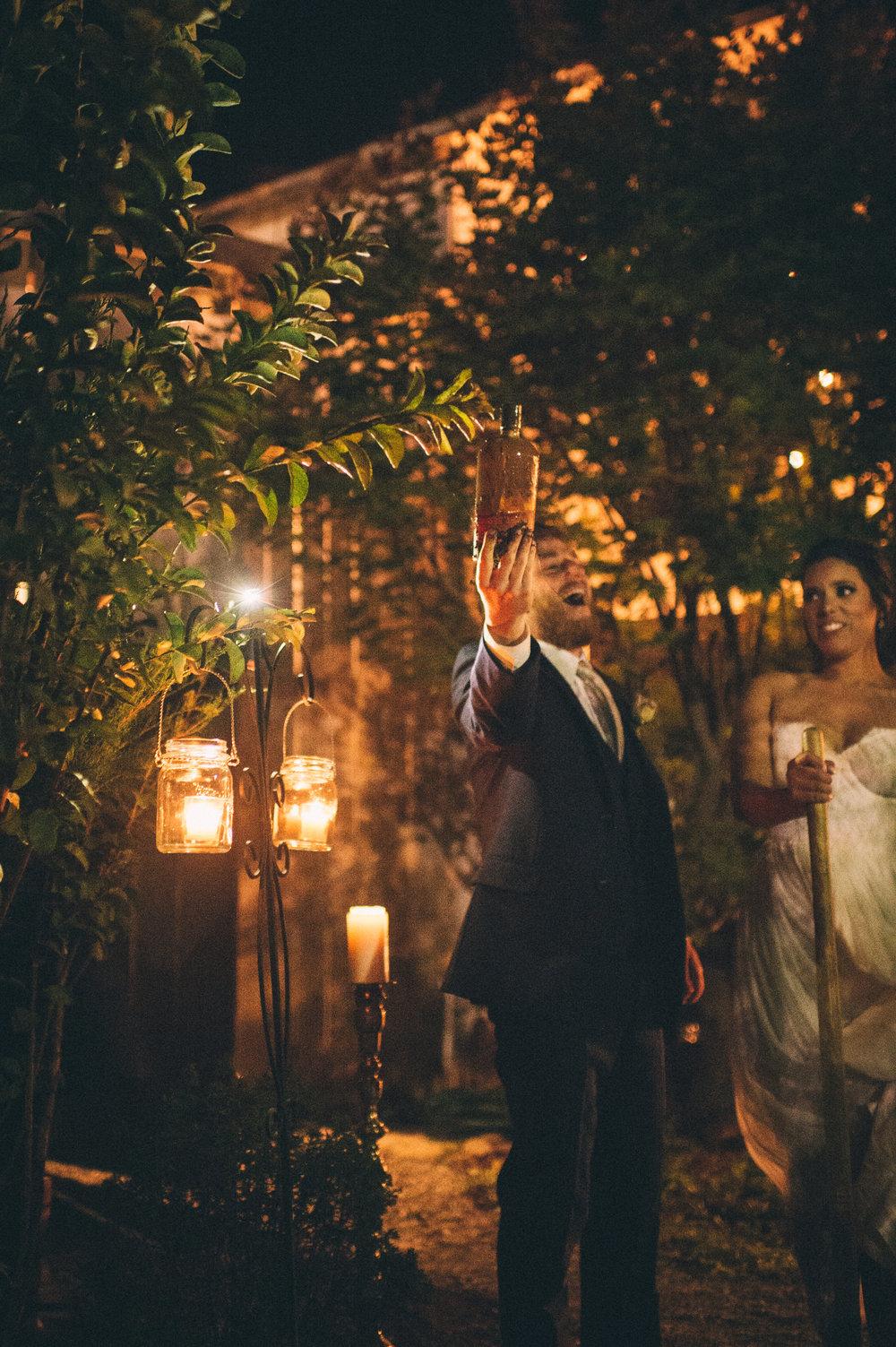 Micaha & Austin // Cozy Autumn Wedding at Springhouse Gardens // Lexington, Kentucky // Wedding Photography // Reception // Bury Bourbon