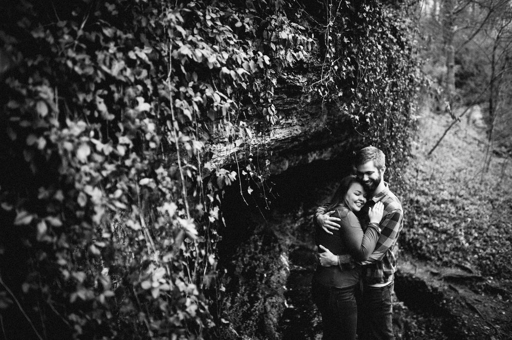 Maggie + Corey Adventurous Engagement Session- Sarah Katherine Davis Photography - Cherokee Park Hike - Louisville Kentucky - Exploring