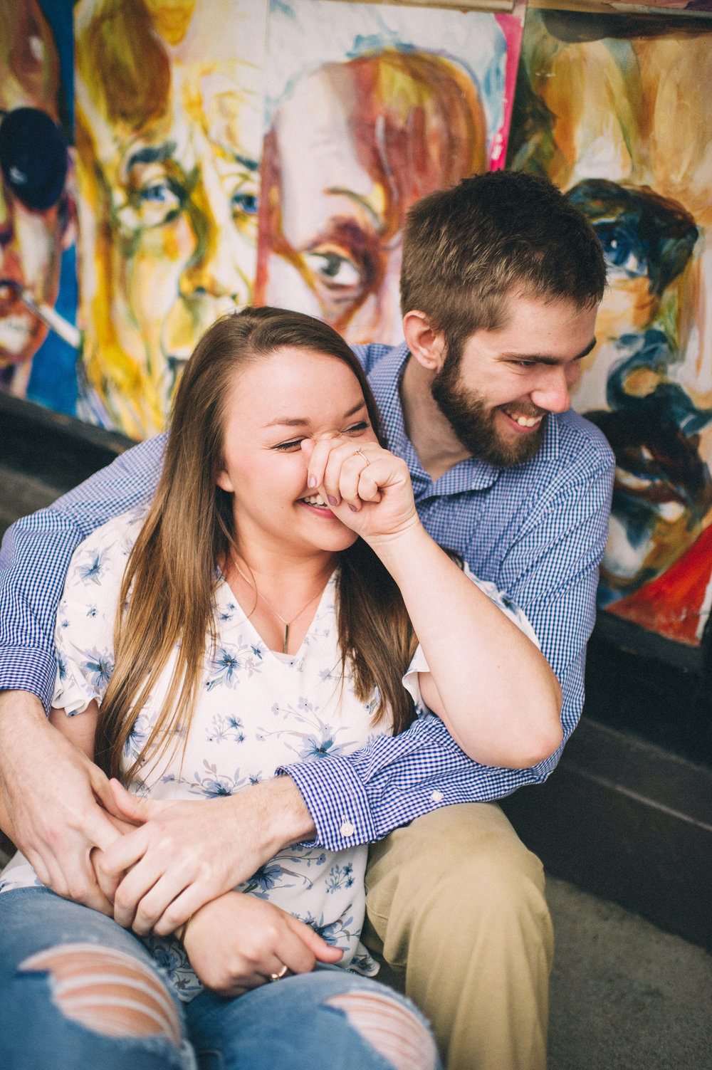 Maggie + Corey Engagement Session- Sarah Katherine Davis Photography - Carmichael's Book Store - Louisville Kentucky