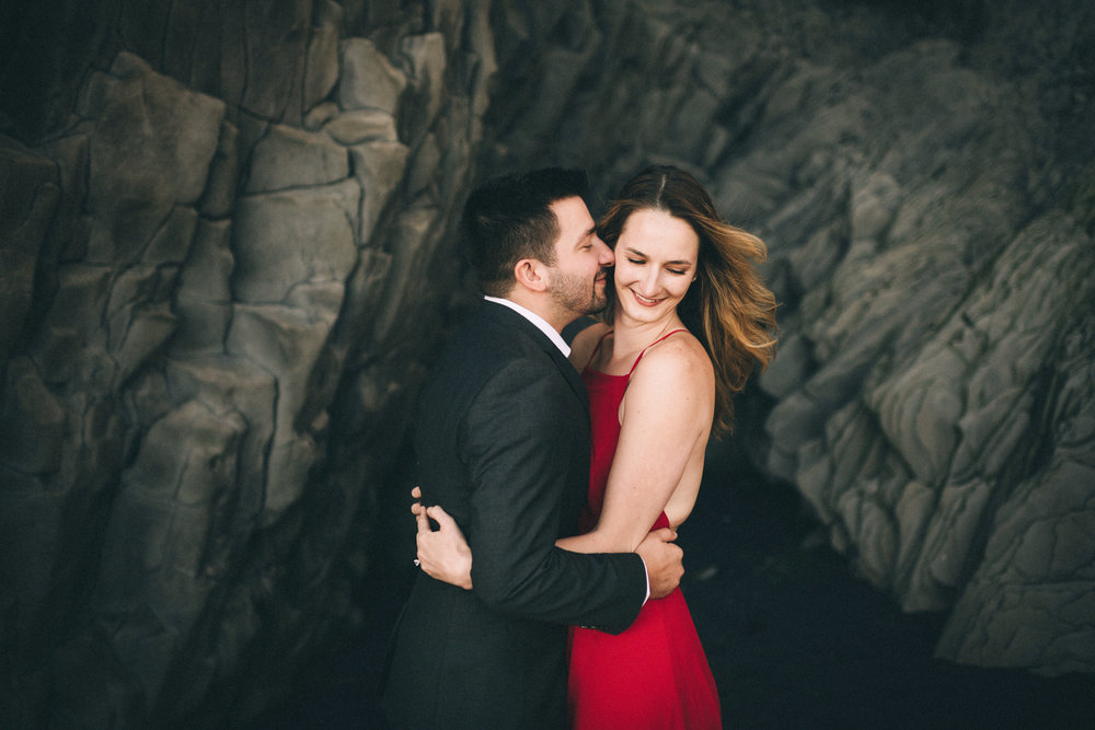 Sarah-Katherine-Davis-Photography-Iceland-Adventure-Elopement-Photographer-Louisville-Kentucky-Wedding-Photographer-Travel-Vik-Beach-Engagement-Session-Red-Dress-Reynisfjara-49edit.jpg