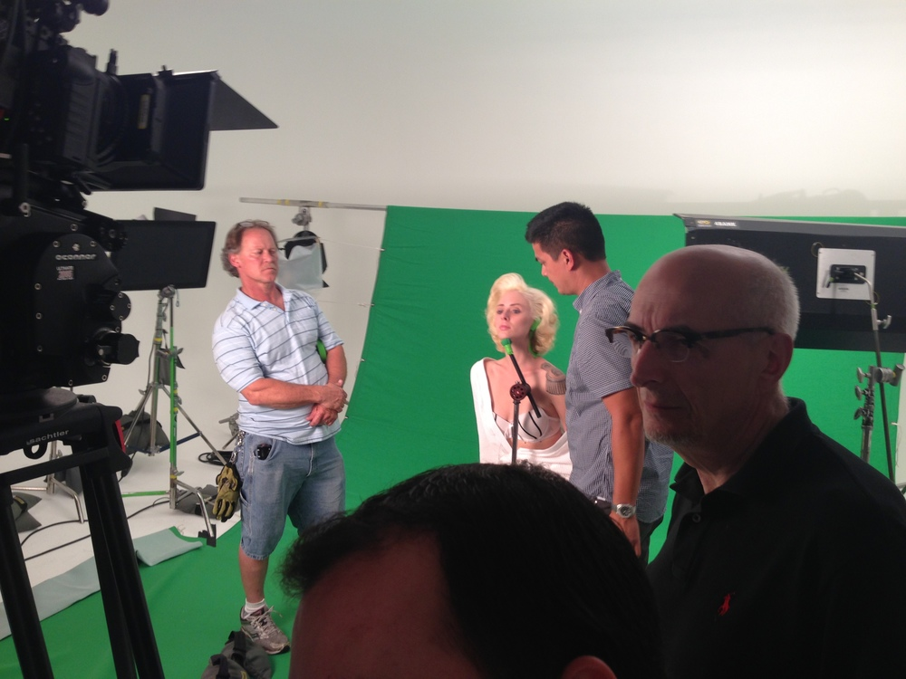 ADC Digital's Alberto Tolot, producer Michael Manacop and model Alysha Nett