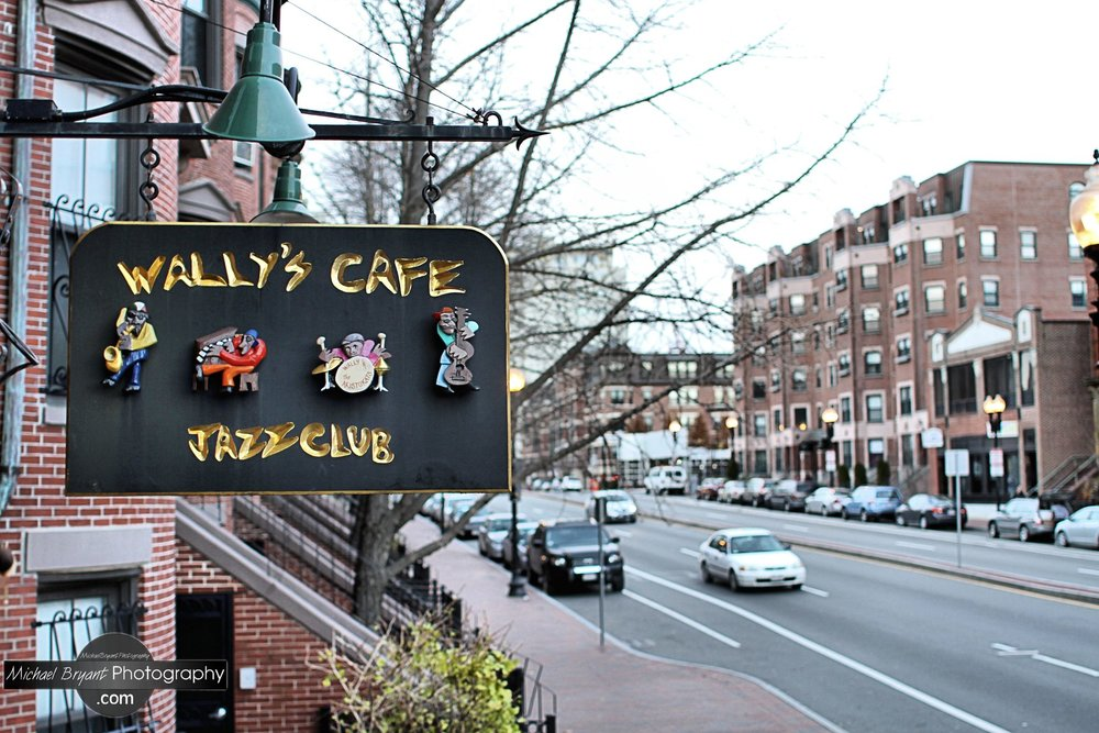 Wally's Cafe, a jazz & blues club located at 427 Massachusetts Ave, Boston, MA.