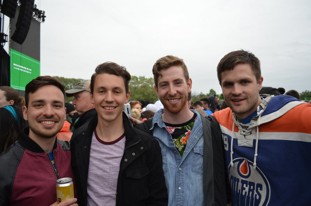 George and friends from Toronto waiting for Thundercat.