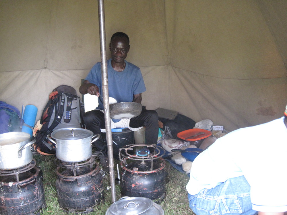 Kiplet (head chef) busy cooking up another amazing meal.